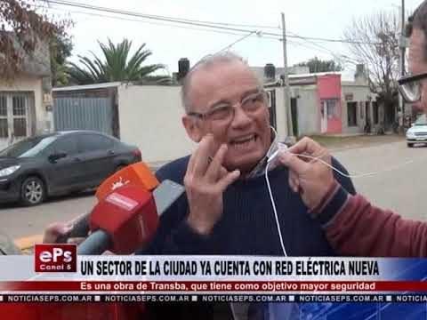 UN SECTOR DE LA CIUDAD YA CUENTA CON RED ELÉCTRICA NUEVA