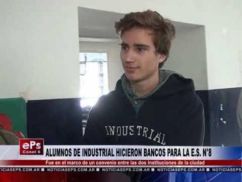 ALUMNOS DE INDUSTRIAL HICIERON BANCOS PARA LA ES N°8