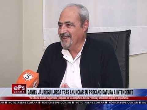 DANIEL JÁUREGUI LORDA TRAS ANUNCIAR SU PRECANDIDATURA A INTENDENTE