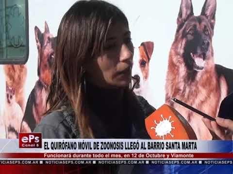 EL QUIRÓFANO MÓVIL DE ZOONOSIS LLEGÓ AL BARRIO SANTA MARTA