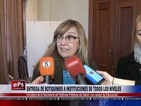ENTREGA DE BOTIQUINIES A INSTITUCIONES DE TODOS LOS NIVELES
