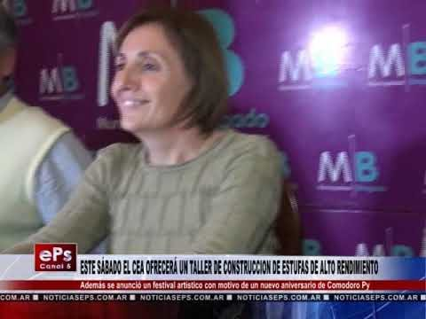 ESTE SÁBADO EL CEA OFRECERÁ UN TALLER DE CONSTRUCCION DE ESTUFAS DE ALTO RENDIMIENTO
