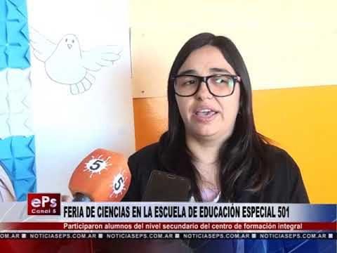 FERIA DE CIENCIAS EN LA ESCUELA DE EDUCACIÓN ESPECIAL 501