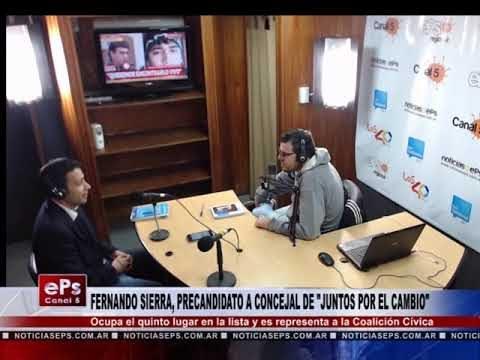 FERNANDO SIERRA, PRECANDIDATO A CONCEJAL DE JUNTOS POR EL CAMBIO