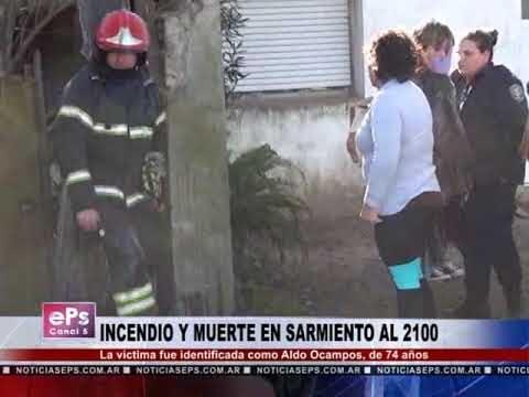 INCENDIO Y MUERTE EN SARMIENTO AL 2100