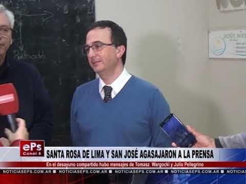 SANTA ROSA DE LIMA Y SAN JOSÉ AGASAJARON A LA PRENSA