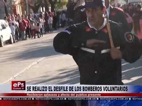 SE REALIZO EL DESFILE DE LOS BOMBEROS VOLUNTARIOS