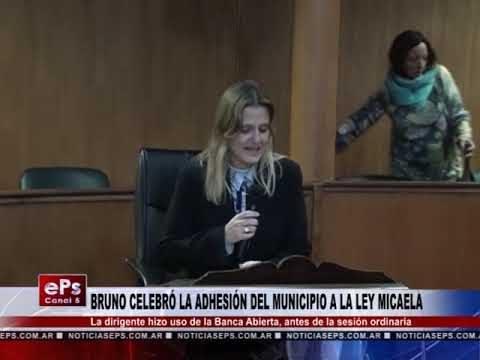 BRUNO CELEBRÓ LA ADHESIÓN DEL MUNICIPIO A LA LEY MICAELA