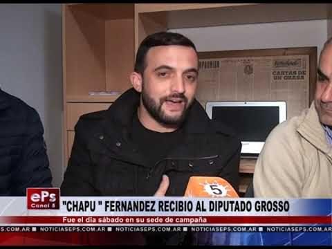 CHAPU FERNANDEZ RECIBIO AL DIPUTADO GROSSO