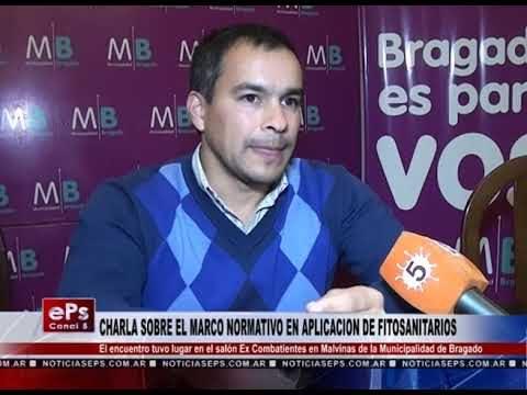 CHARLA SOBRE EL MARCO NORMATIVO EN APLICACION DE FITOSANITARIOS