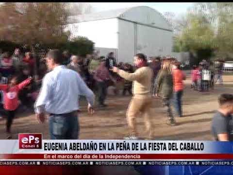 EUGENIA ABELDAÑO EN LA PEÑA DE LA FIESTA DEL CABALLO