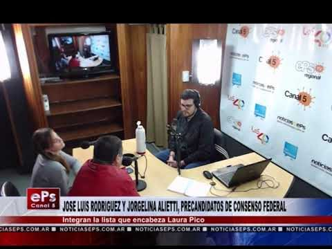JOSE LUIS RODRIGUEZ Y JORGELINA ALIETTI, PRECANDIDATOS DE CONSENSO FEDERAL