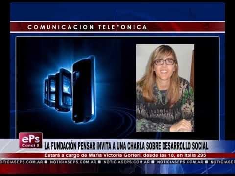 LA FUNDACIÓN PENSAR INVITA A UNA CHARLA SOBRE DESARROLLO SOCIAL