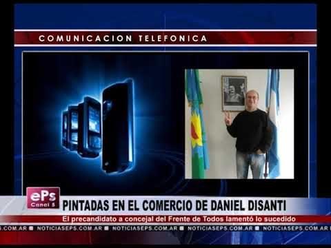 PINTADAS EN EL COMERCIO DE DANIEL DISANTI