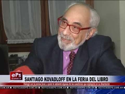 SANTIAGO KOVADLOFF EN LA FERIA DEL LIBRO