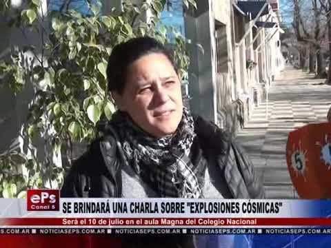 SE BRINDARÁ UNA CHARLA SOBRE EXPLOSIONES CÓSMICAS