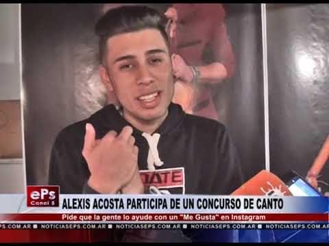 ALEXIS ACOSTA PARTICIPA DE UN CONCURSO DE CANTO
