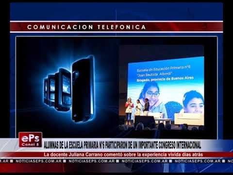 ALUMNAS DE LA ESCUELA PRIMARIA N°6 PARTICIPARON DE UN IMPORTANTE CONGRESO INTERNACIONAL