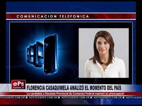 FLORENCIA CASAQUIMELA ANALIZÓ EL MOMENTO DEL PAÍS