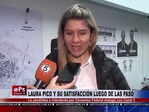 LAURA PICO Y SU SATISFACCIÓN LUEGO DE LAS PASO