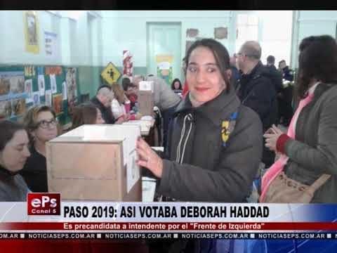 PASO 2019 ASI VOTABA DEBORAH HADDAD