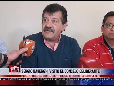 SERGIO BARENGHI VISITÓ EL CONCEJO DELIBERANTE