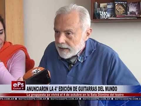 ANUNCIARON LA 4° EDICIÓN DE GUITARRAS DEL MUNDO