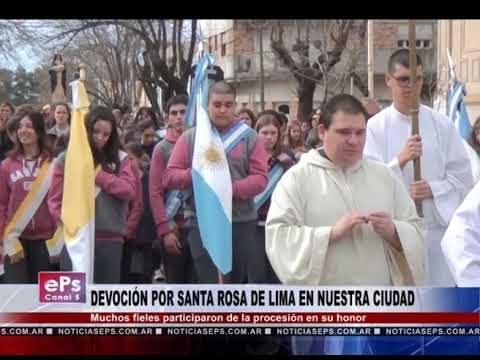 DEVOCIÓN POR SANTA ROSA DE LIMA EN NUESTRA CIUDAD