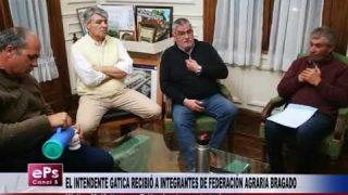 EL INTENDENTE GATICA RECIBIÓ A INTEGRANTES DE FEDERACIÓN AGRARIA BRAGADO