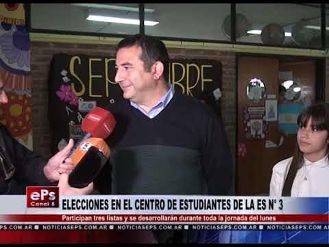 ELECCIONES EN EL CENTRO DE ESTUDIANTES DE LA ES N° 3