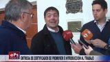ENTREGA DE CERTIFICADOS DE PROMOVER E INTRODUCCIÓN AL TRABAJO