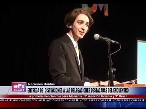 ENTREGA DE DISTINCIONES A LAS DELEGACIONES DESTACADAS DEL ENCUENTRO