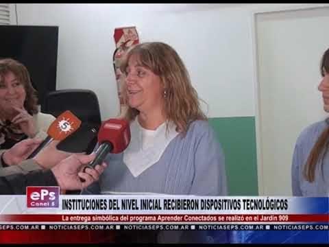 INSTITUCIONES DEL NIVEL INICIAL RECIBIERON DISPOSITIVOS TECNOLÓGICOS