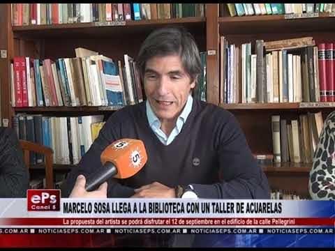 MARCELO SOSA LLEGA A LA BIBLIOTECA CON UN TALLER DE ACUARELAS