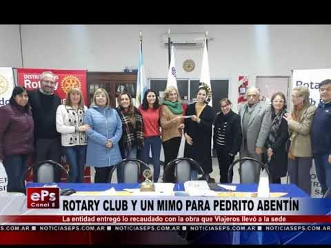ROTARY CLUB Y UN MIMO PARA PEDRITO ABENTÍN