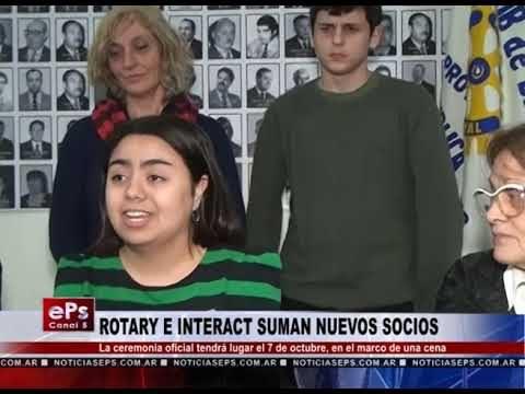 ROTARY E INTERACT SUMAN NUEVOS SOCIOS