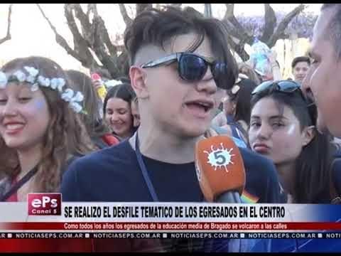 SE REALIZO EL DESFILE TEMATICO DE LOS EGRESADOS EN EL CENTRO