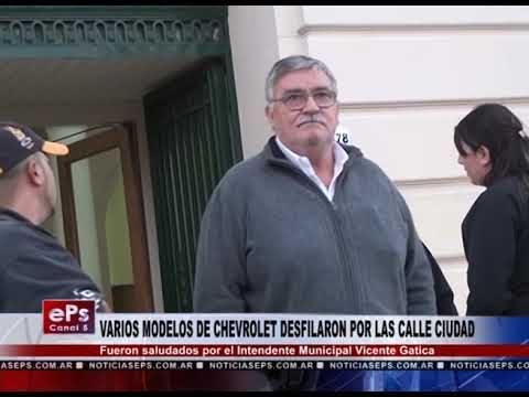 VARIOS MODELOS DE CHEVROLET DESFILARON POR LAS CALLE CIUDAD