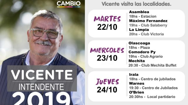 VICENTE GATICA VISITA TODOS LOS CUARTELES DE BRAGADO