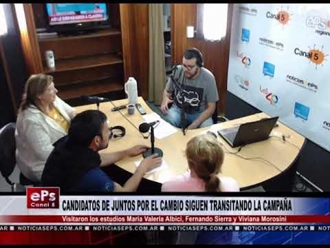 CANDIDATOS DE JUNTOS POR EL CAMBIO SIGUEN TRANSITANDO LA CAMPAÑA