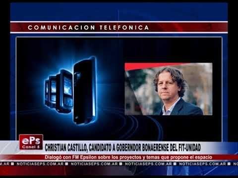 CHRISTIAN CASTILLO, CANDIDATO A GOBERNDOR BONAERENSE DEL FIT UNIDAD
