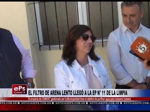EL FILTRO DE ARENA LENTO LLEGÓ A LA EP N° 11 DE LA LIMPIA