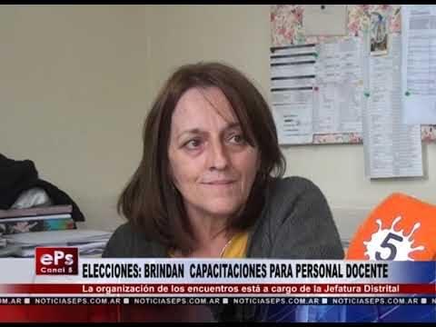 ELECCIONES BRINDAN CAPACITACIONES PARA PERSONAL DOCENTE