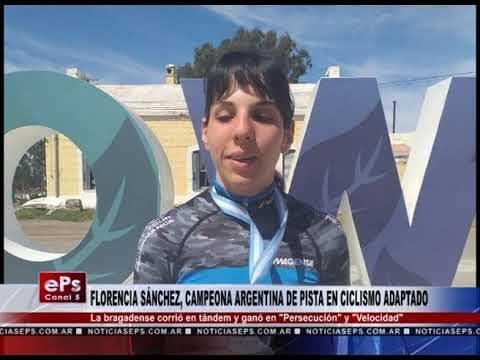 FLORENCIA SÁNCHEZ, CAMPEONA ARGENTINA DE PISTA EN CICLISMO ADAPTADO