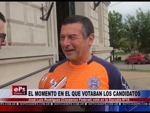 JOSE LUIS RODRIGUEZ VOTO EN LA ESCUELA N°10