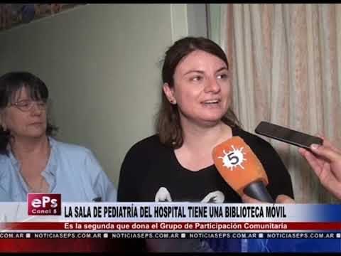 LA SALA DE PEDIATRÍA DEL HOSPITAL TIENE UNA BIBLIOTECA MÓVIL