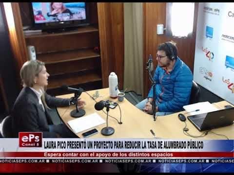 LAURA PICO PRESENTÓ UN PROYECTO PARA REDUCIR LA TASA DE ALUMBRADO PÚBLICO