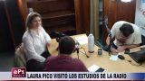 LAURA PICO VISITÓ LOS ESTUDIOS DE LA RADIO
