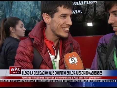 LLEGO LA DELEGACION QUE COMPITIO EN LOS JUEGOS BONAERENSES