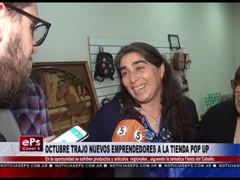 OCTUBRE TRAJO NUEVOS EMPRENDEDORES A LA TIENDA POP UP
